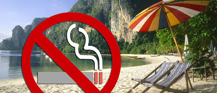 No smoking at the beach!
